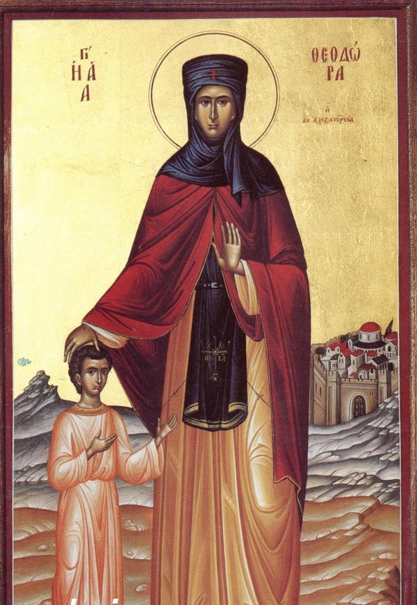 Резултат с изображение за Св. преподобна Теодора Александрийска, подвизавала се в мъжки образ